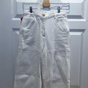 Women's white painter style pants